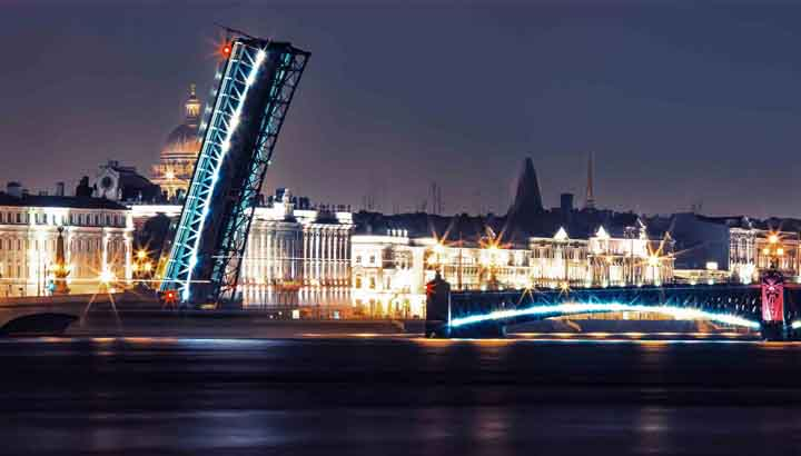 Take a romantic night trip along the river watching drawbridges