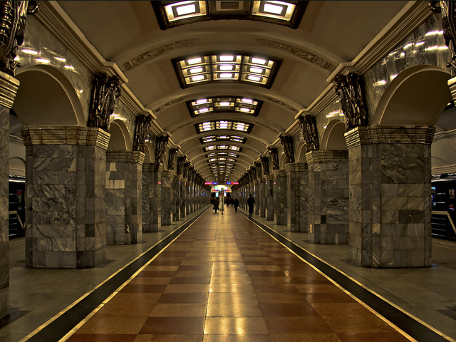 Subway (Metro) tour in St Petersburg, Russia