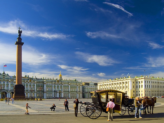 City sightseeing tour in St. Petersburg, Russia