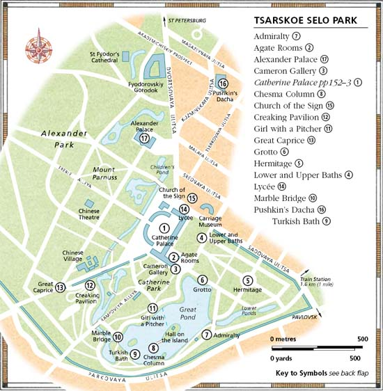 Palace and park maps - Tsarkoye Selo